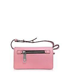 Pink Fleur Gotham Brieftasche aus Leder mit Riemen - Marc Jacobs