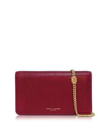 marc jacobs female  perry leather wallet on chain