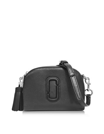 marc jacobs female 188971 shutter black leather small camera bag