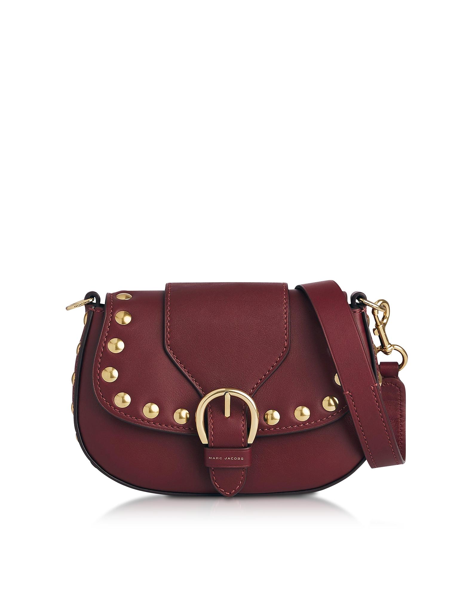 Marc Jacobs Handbags, Cabernet Leather Small Studded Navigator Shoulder Bag