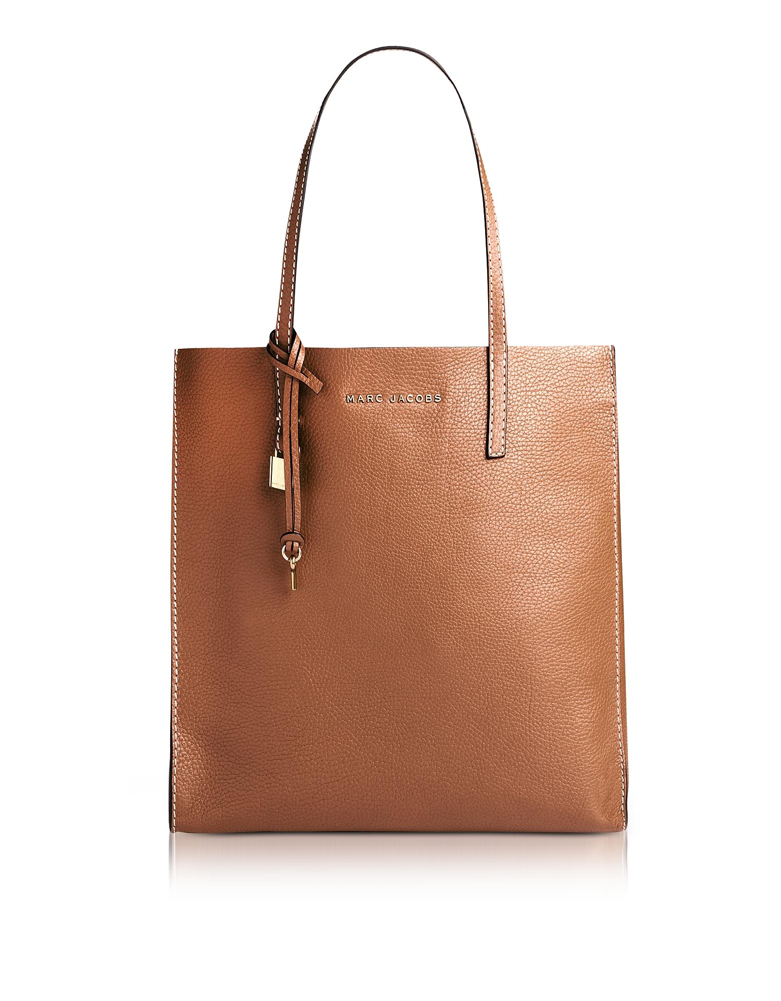 Marc Jacobs Handbags, Saddle Leather The Grind Shopper Tote Bag
