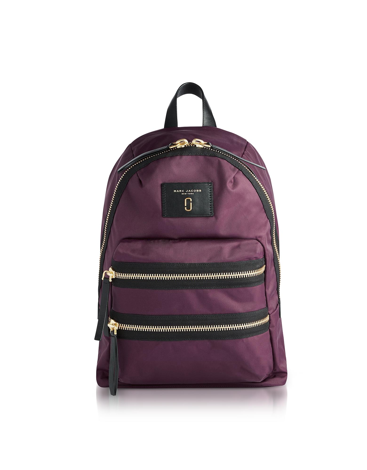 marc jacobs female marc jacobs designer handbags dark violet nylon biker mini backpack