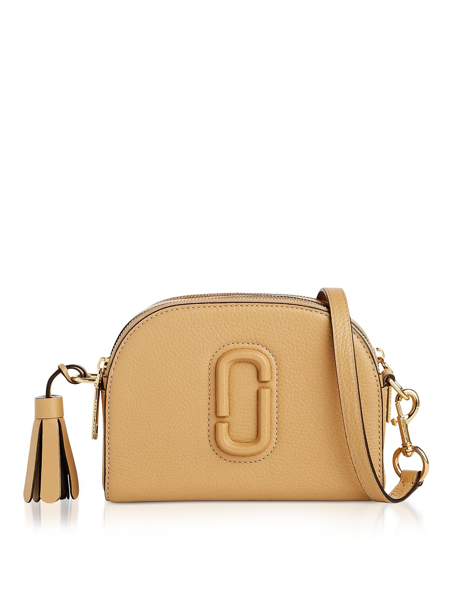 Marc Jacobs Handbags, Shutter Golden Beige Leather Small Camera Bag