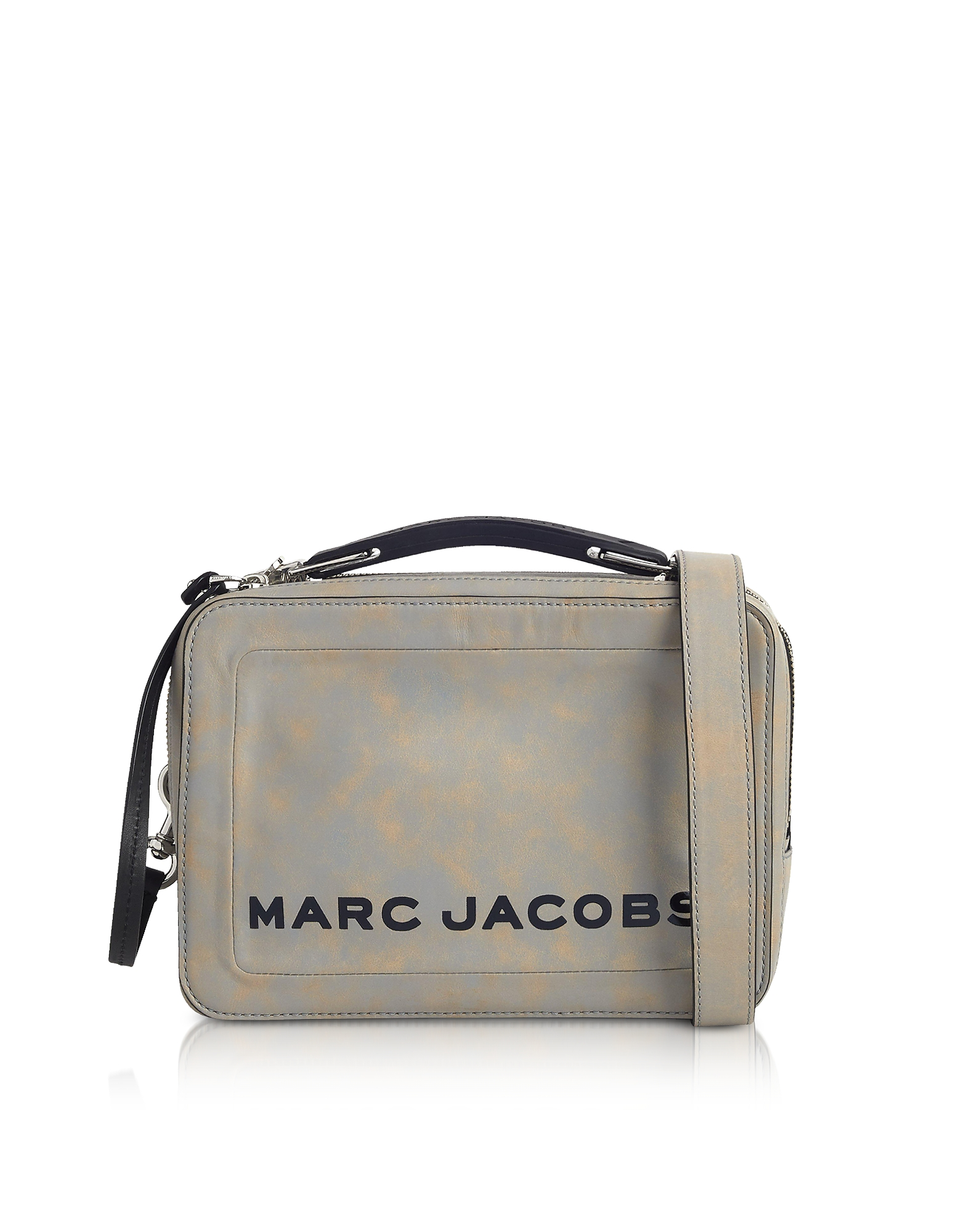 Marc Jacobs Handbags, The Box Top Handle Leather Squared Satchel Bag