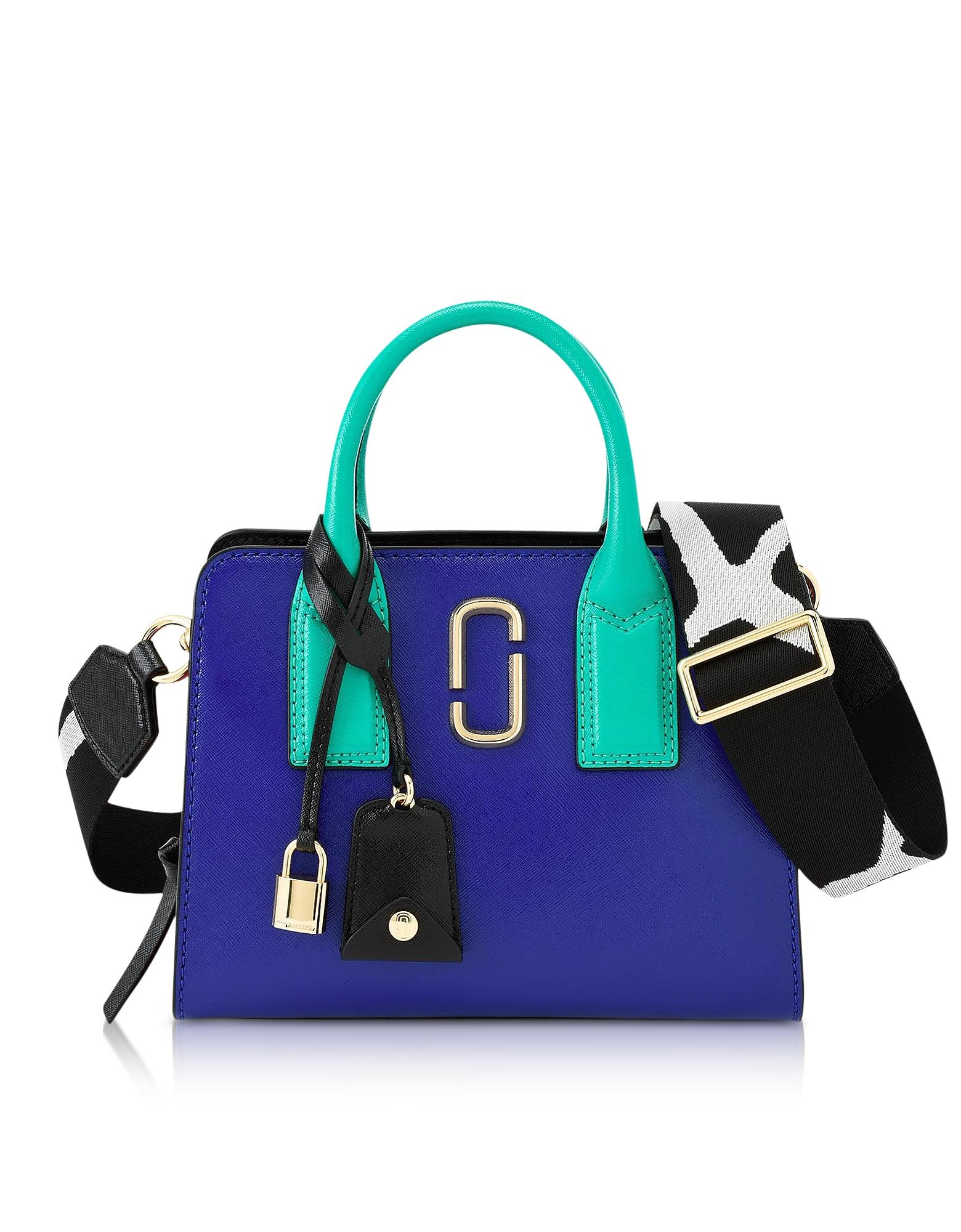 Blue Strap Little Big Shot Tote Bag
