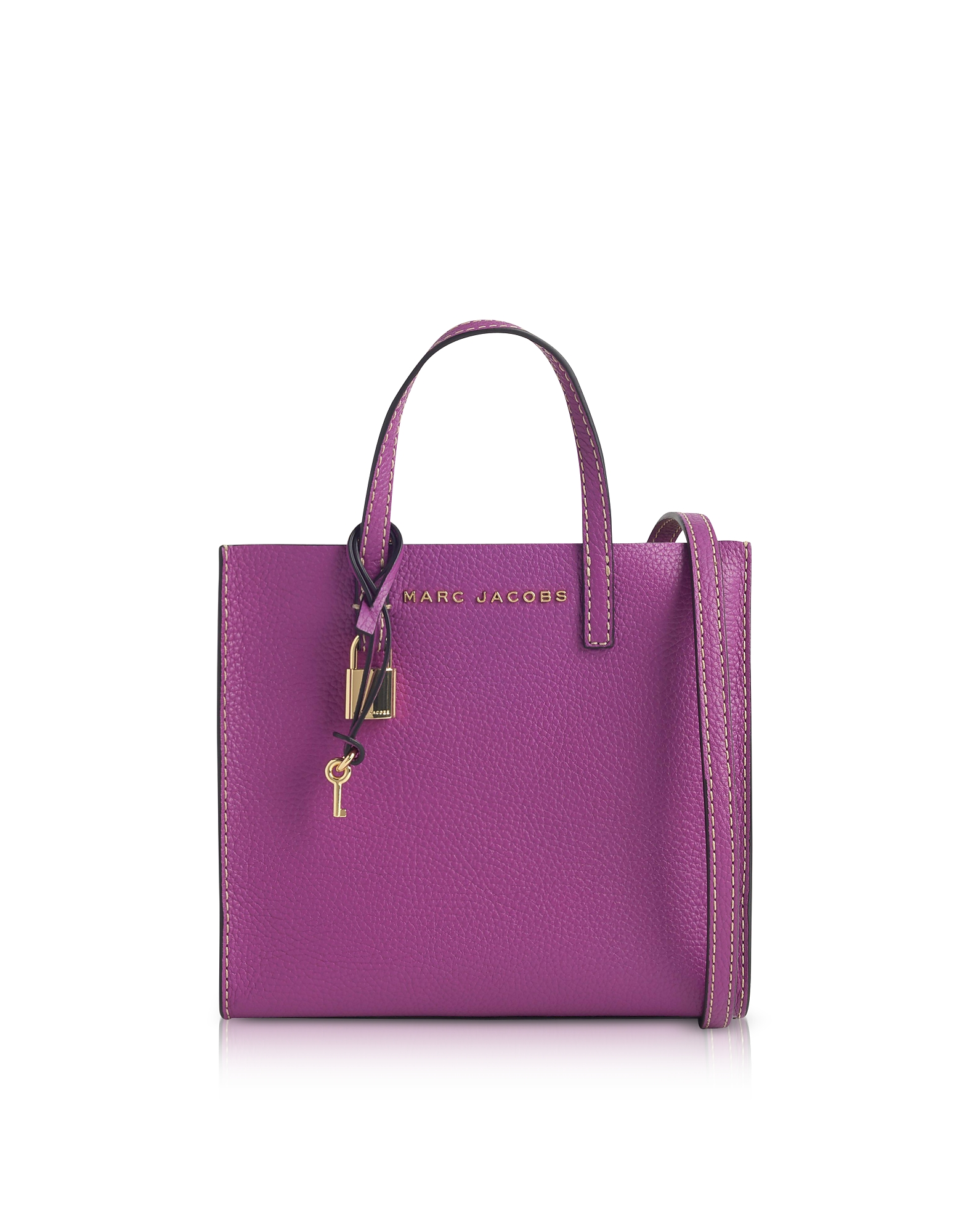 Marc Jacobs Handbags, The Grind Mini Leather Tote Bag