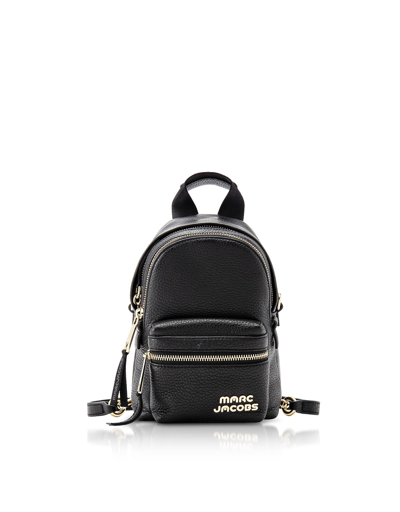 Black Leather Micro Backpack