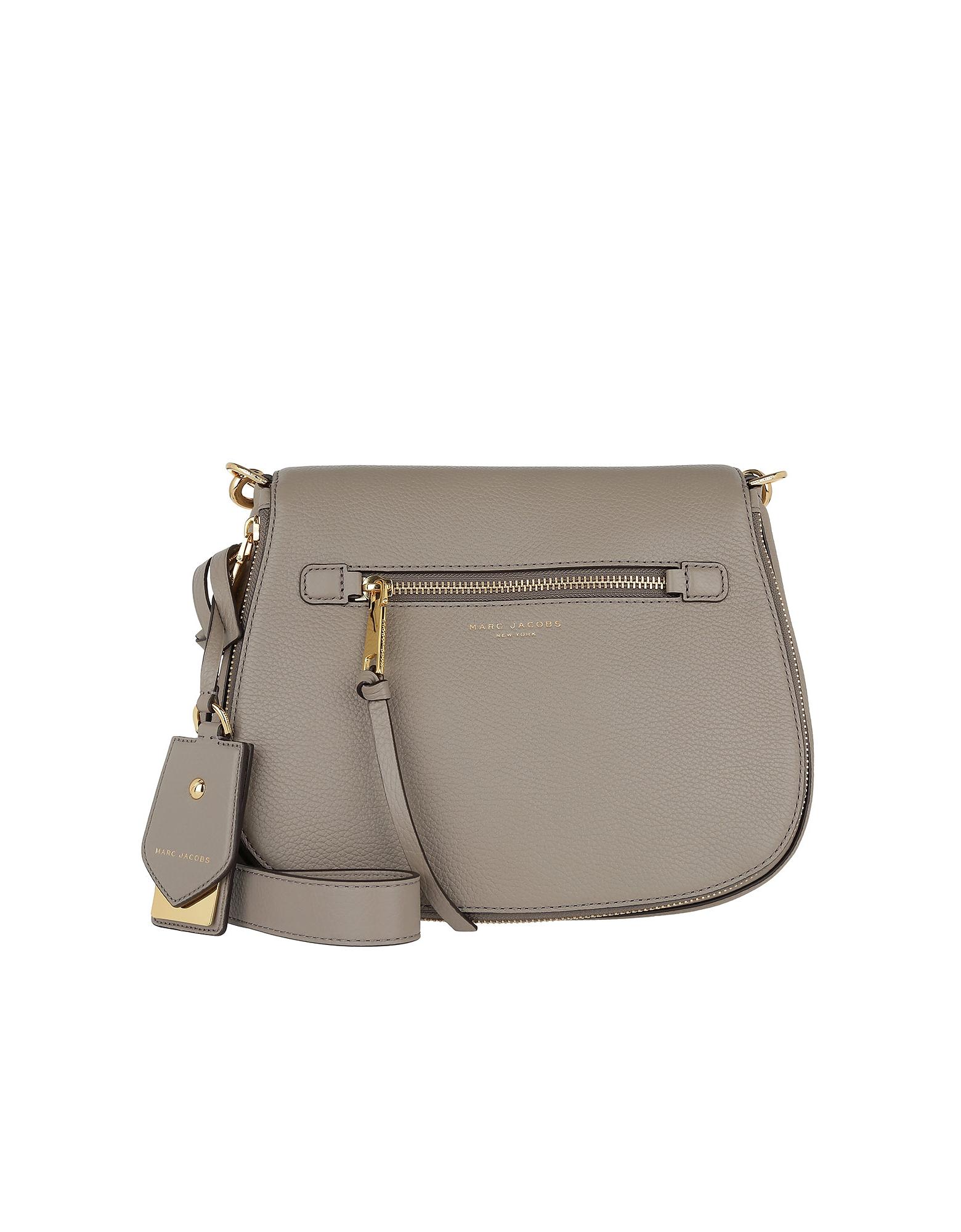 e5e7cddffe Marc Jacobs Recruit Saddle Bag Leather Mink | ModeSens