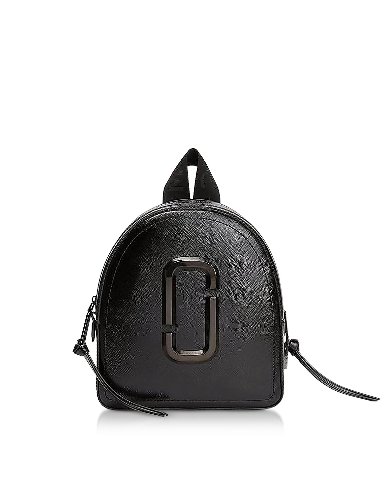 Pack Shot - Черный Кожаный Рюкзак
