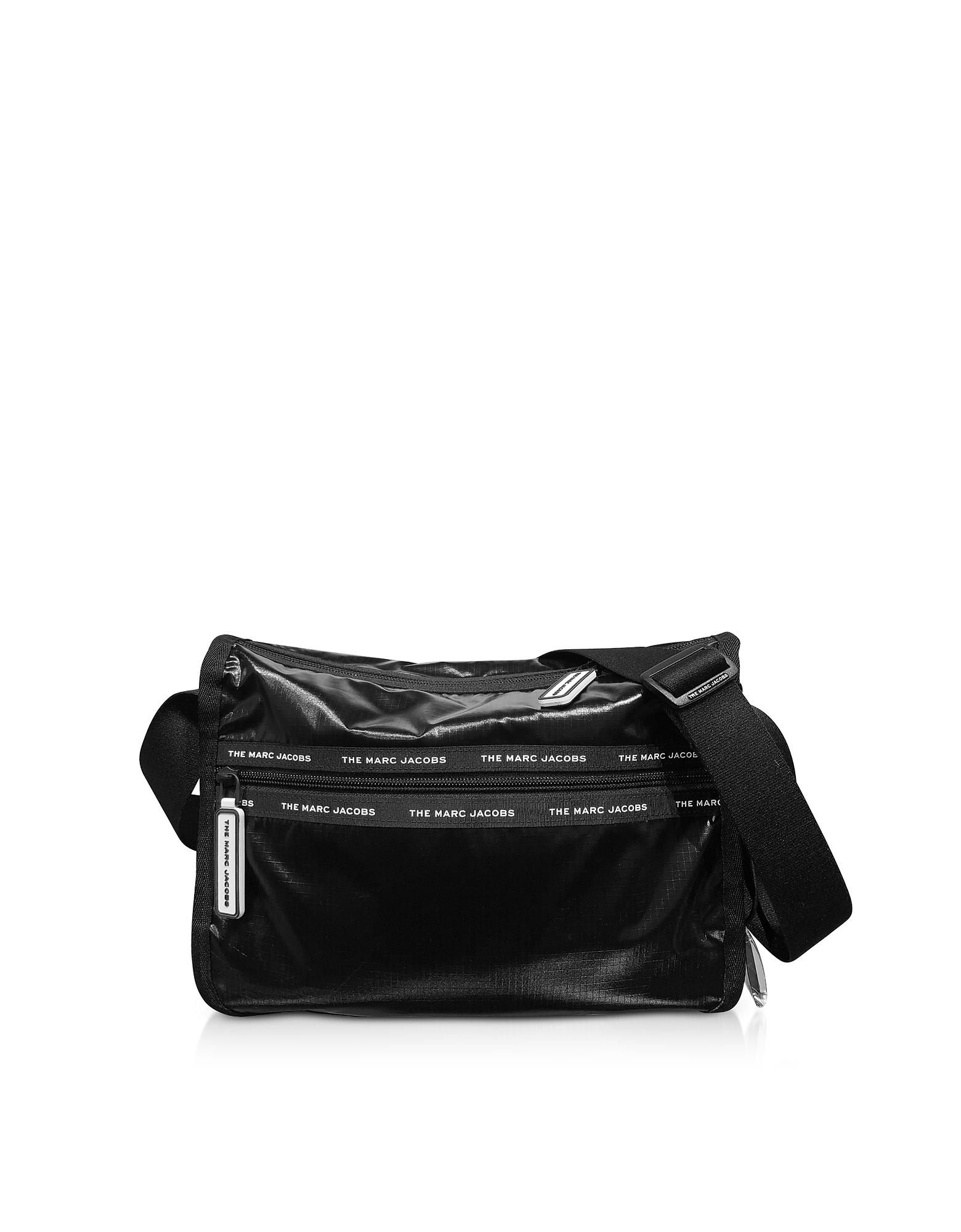 The Ripstop Black Nylon Messenger Bag