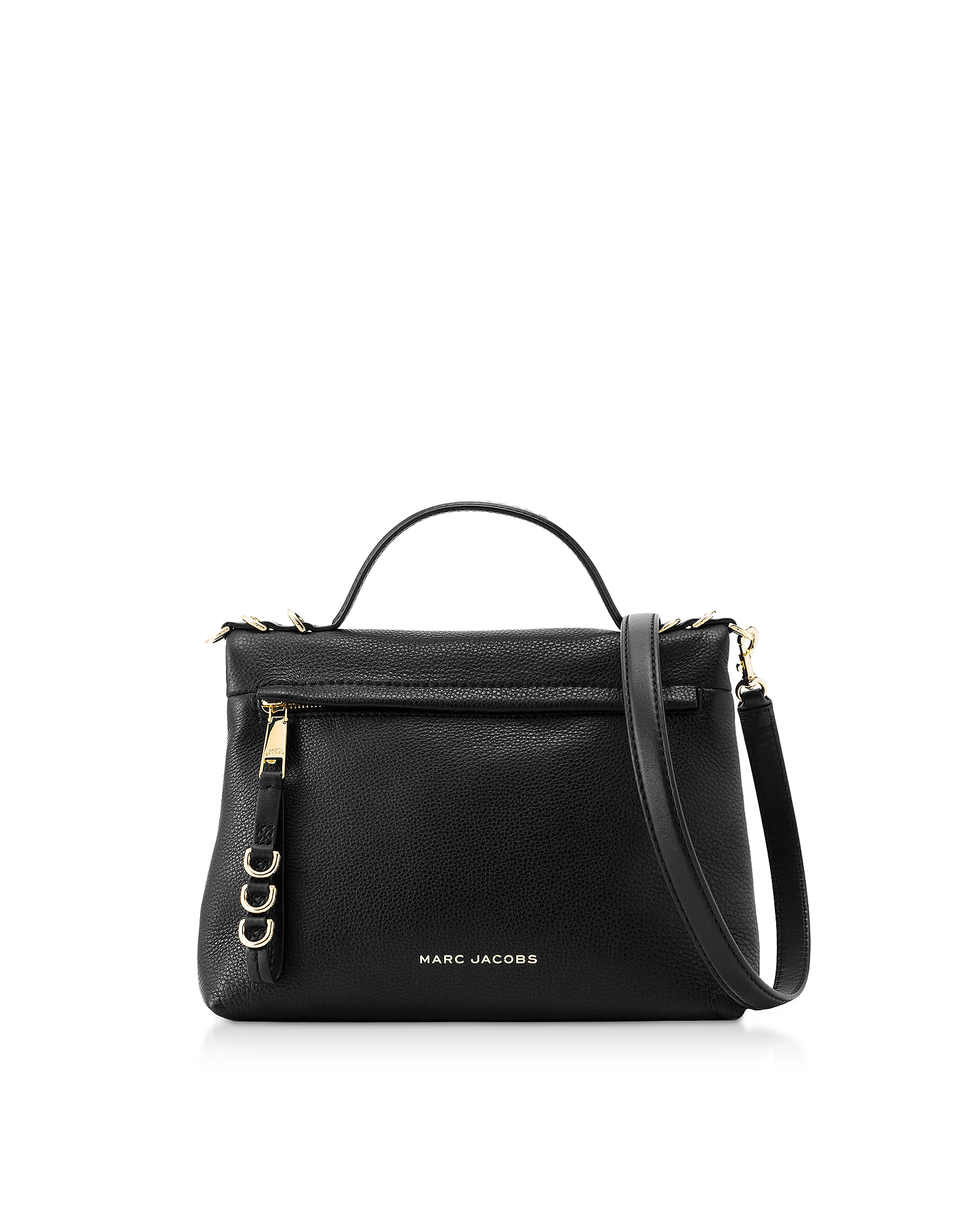 The Two Fold Black Satchel