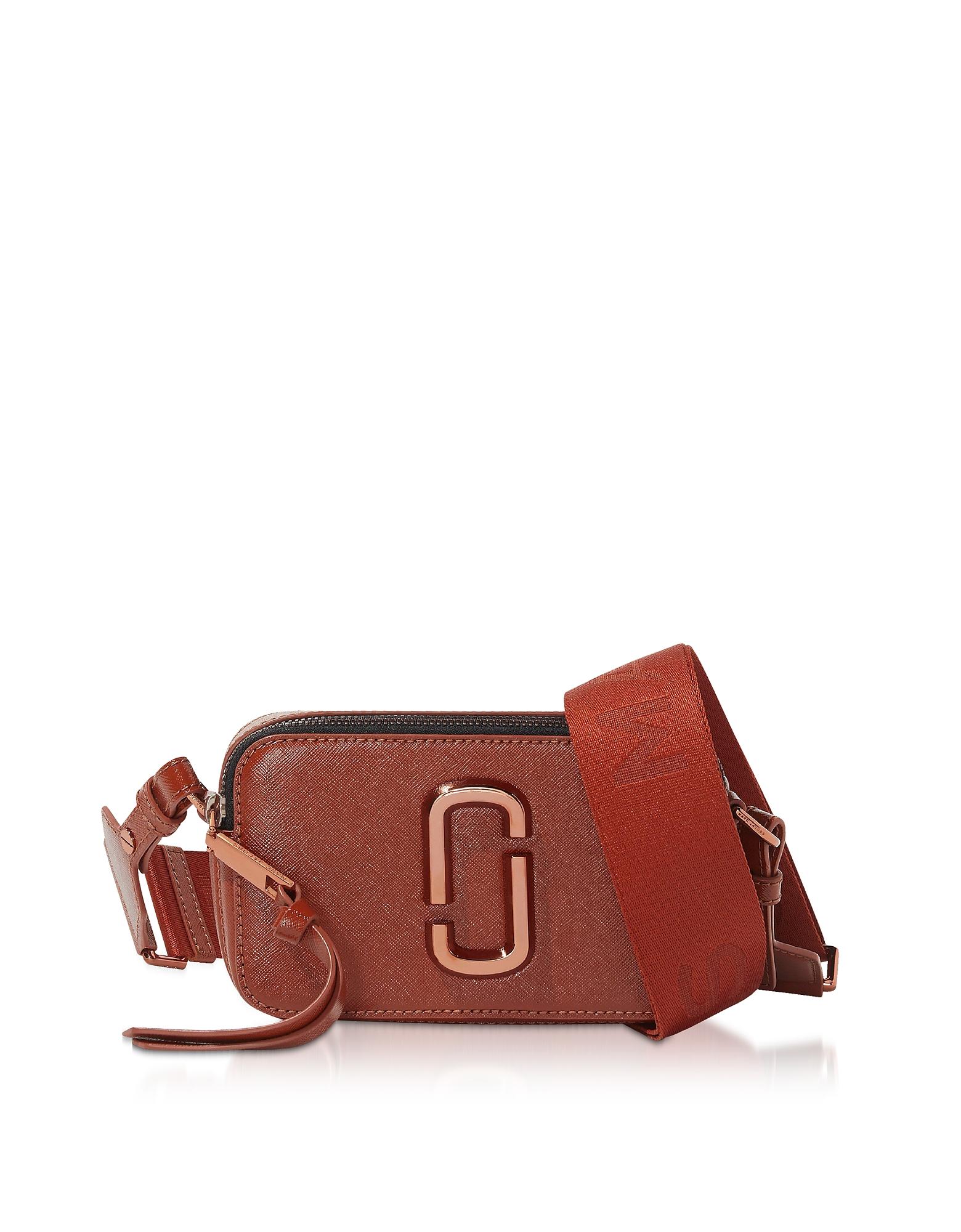 Snapshot Monochrome Crossbody Bag, Red
