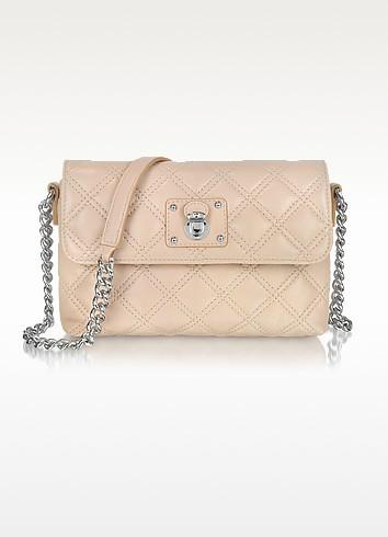 The Single Blush Leather Shoulder Bag - Marc Jacobs