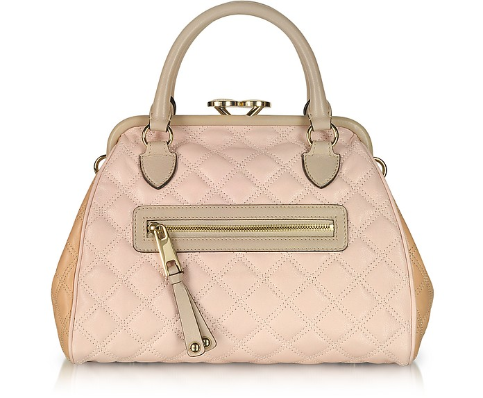 Mini Stam - Color-Block Quilted Leather Satchel - Marc Jacobs