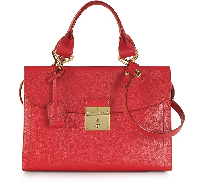The Mini 54 Flame Red Leather Handbag - Marc Jacobs