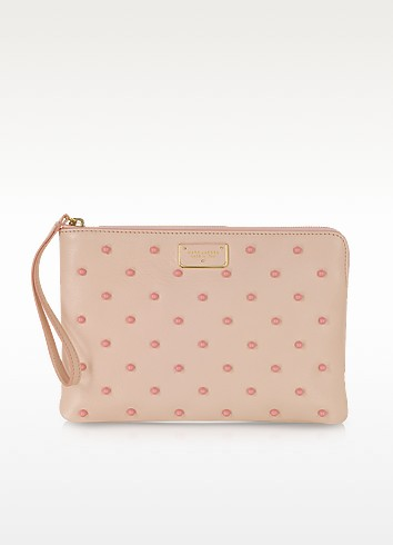 Flat Leather Pouch w/Polkadot Beads - Marc Jacobs