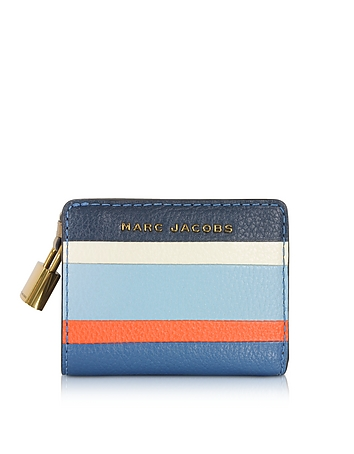 The Grind Colorblocked Leather Mini Compact Wallet jc160218-001-00