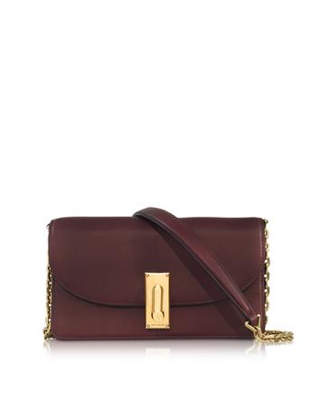 marc jacobs female  west end rubino leather wallet on chain
