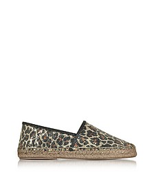 Sienna Espadrillas in Canvas Animaliér con Micro Paillettes - Marc Jacobs