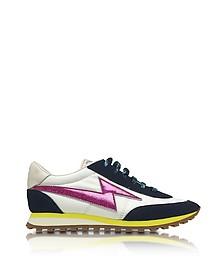 Astor Sneaker in Nylon Bianco, Pelle e Suede - Marc Jacobs
