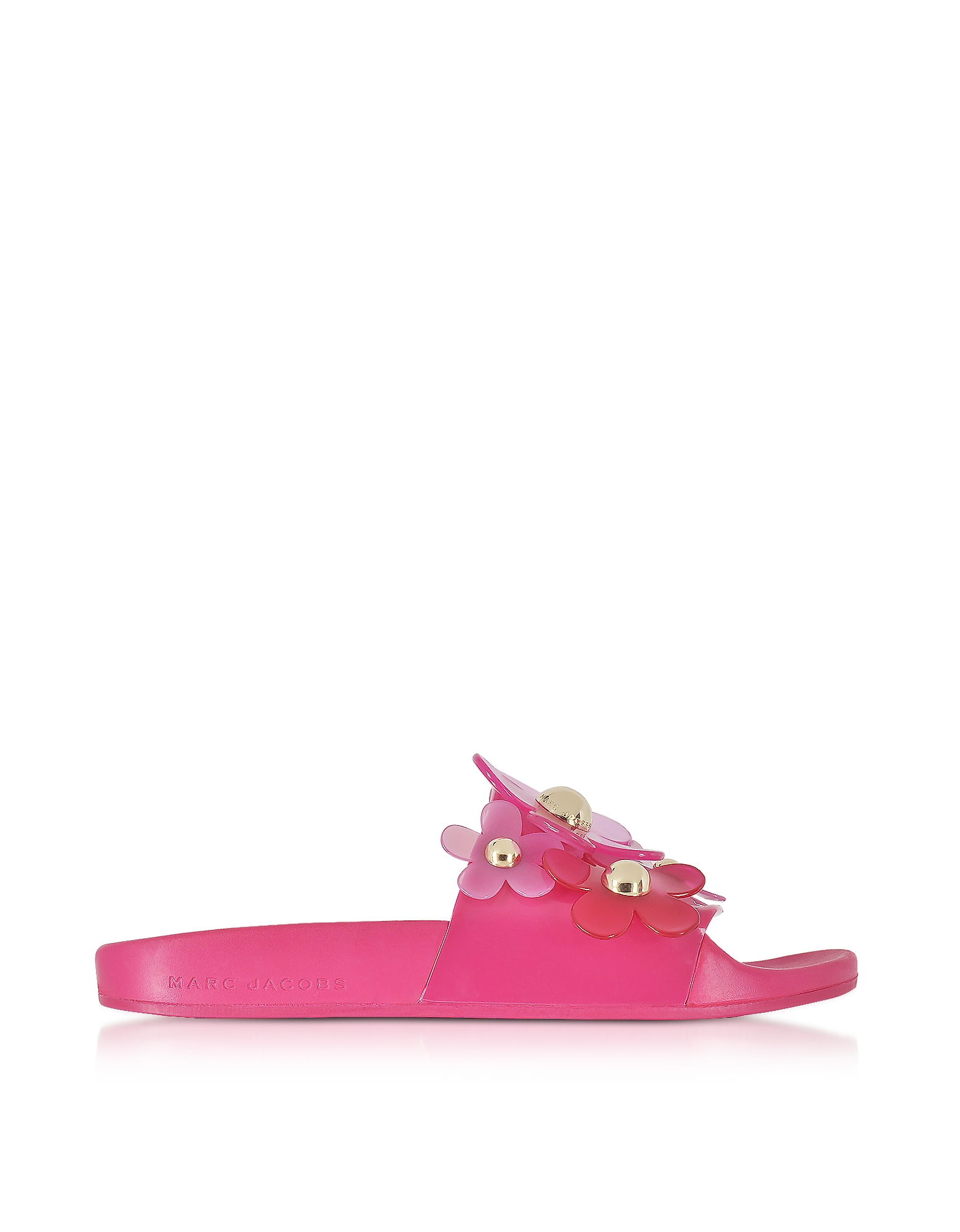 Marc Jacobs Shoes, Fuchsia Rubber Daisy Aqua Slides