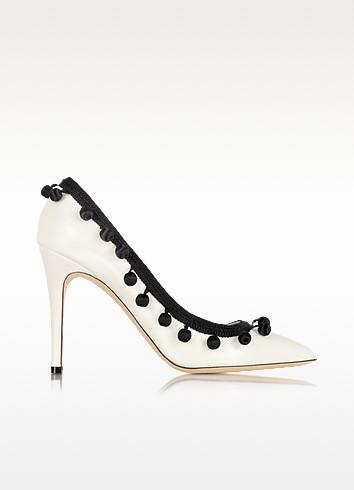 White Leather Pom Pom Pump - Marc Jacobs