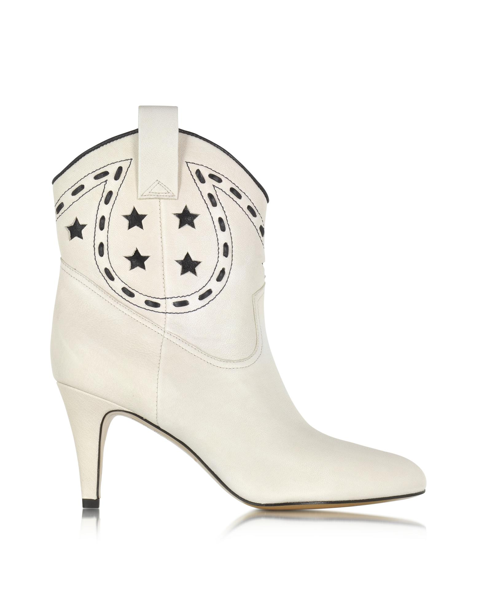 Georgia Ivory Leather Cowboy Boot - Marc Jacobs