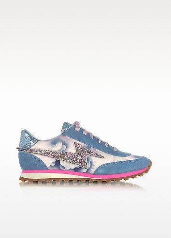 Blue Astor Lightning Bolt Jogger - Marc Jacobs