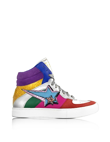 Marc Jacobs - Rainbow Leather Eclipse High Top Sneakers