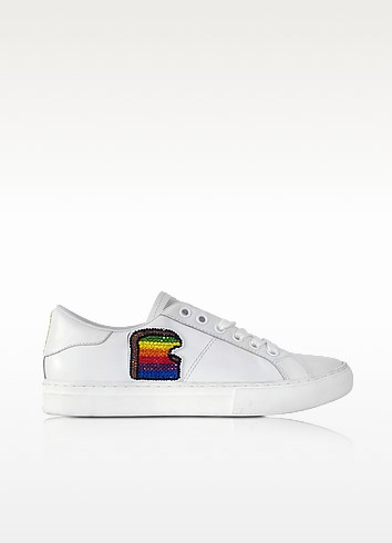 White Leather Empire Toast Low Top Sneaker - Marc Jacobs