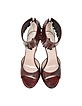 Burgundy Leather Fringed Sandal - Marc Jacobs