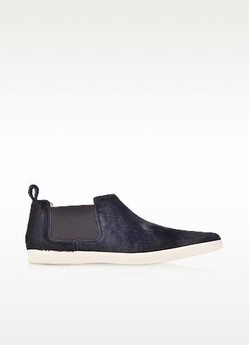 Luxor Navy Blue Haircalf Sneaker - Marc Jacobs