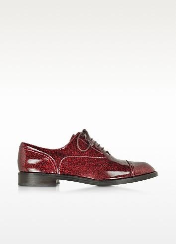 Clinton Bordeaux Leather Oxford Shoe - Marc Jacobs