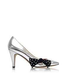 Silver Laminated Leather Daryl Pointy Toe Pump - Marc Jacobs