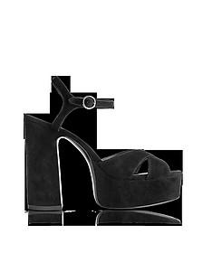 Black Suede Lust Platform Sandals - Marc Jacobs