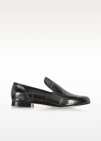 Black Quilted Patent Leather Loafer - Marc Jacobs