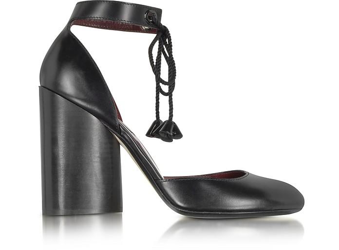 Black Leather Ankle Strap Pump - Marc Jacobs