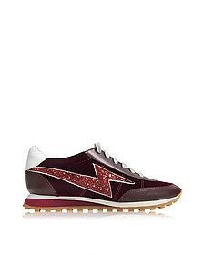 Astor Bordeaux Sneaker w/Lightning Bolt Logo - Marc Jacobs