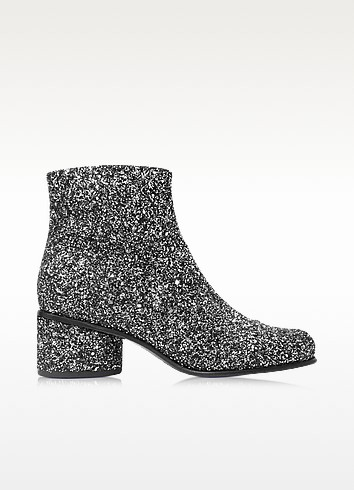 Camilla Silver Glitter Ankle Boot - Marc Jacobs