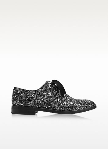 Helena Silver Glitter Oxford Shoe - Marc Jacobs