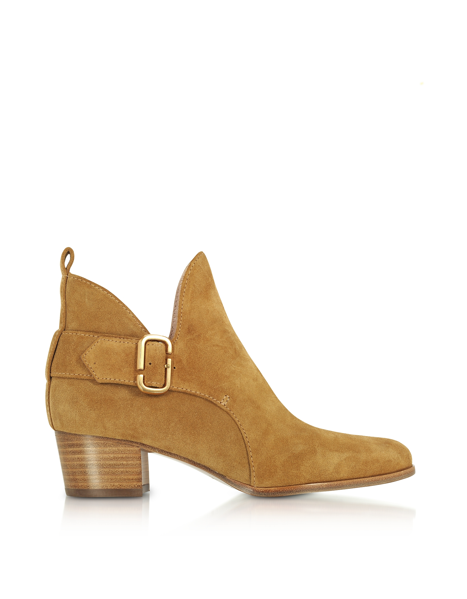 Marc Jacobs Camel Suede Ginger Interlock Ankle Boots