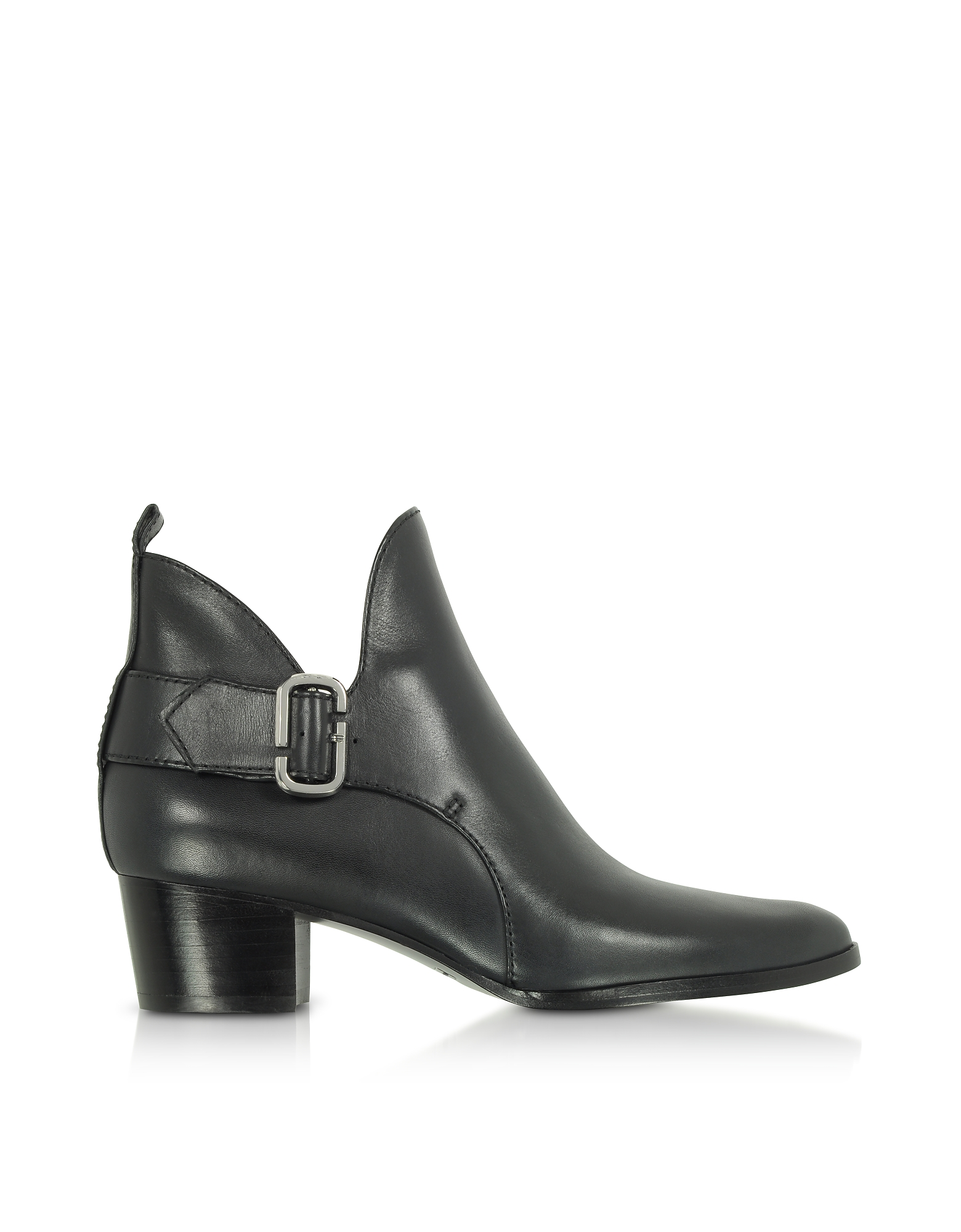 Marc Jacobs Shoes, Black Leather Ginger Interlock Ankle Boots
