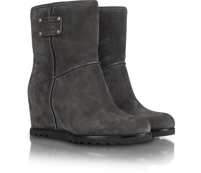 Slate Grey Wedge Bootie - Marc by Marc Jacobs
