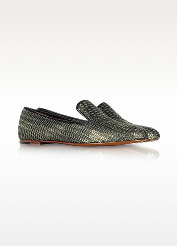 Gold and Black Sequin Loafer - Marc by Marc Jacobs