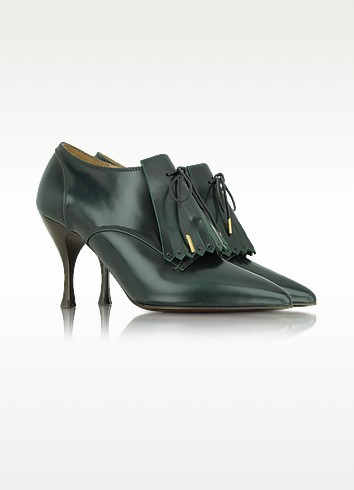 Glossy Fringed Leather Pumps - Marc Jacobs