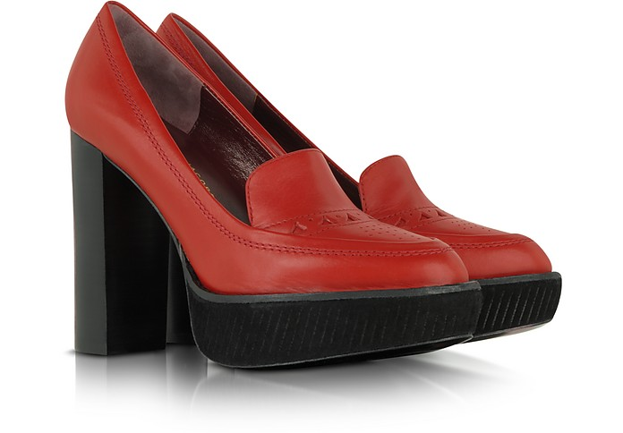 Red Leather Platform Pump - Marc by Marc Jacobs