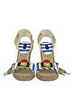 Striped Canvas Espadrille Wedge Sandal - Marc Jacobs