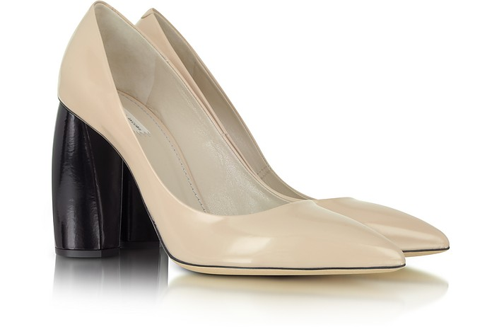 Nude and Black Leather Pump  - Marc Jacobs