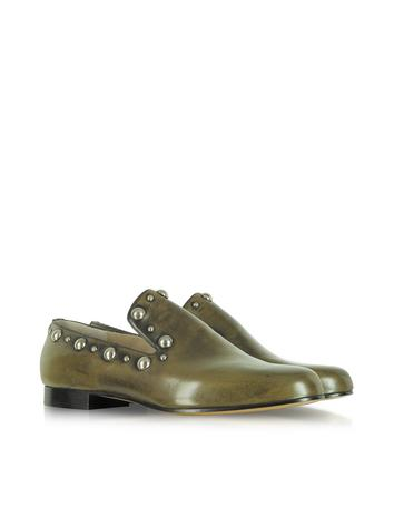 Studded Calf Leather Loafer