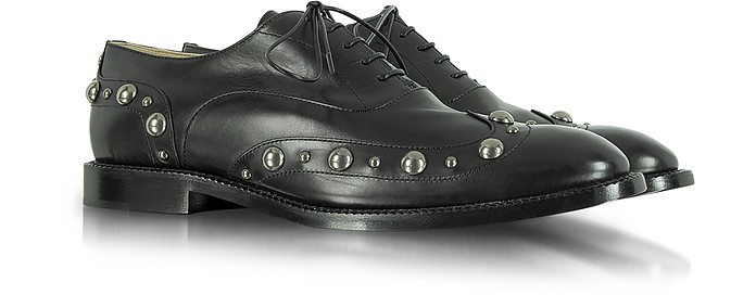 Studded Black Leather Oxford Shoe - Marc Jacobs